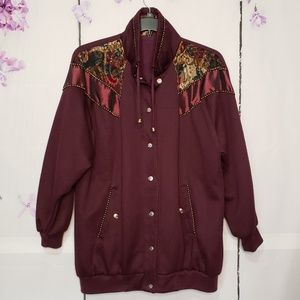 Basic Editions Tapestry Accent Reversible Jacket